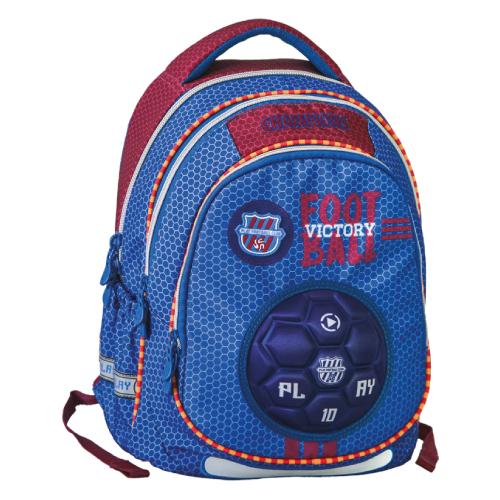 PLAY BAG - Školní batoh Maxx Play, Blue Football