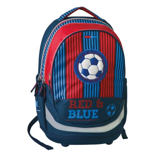 PLAY BAG - Školní batoh Seven Sazio, Red&Blue Football