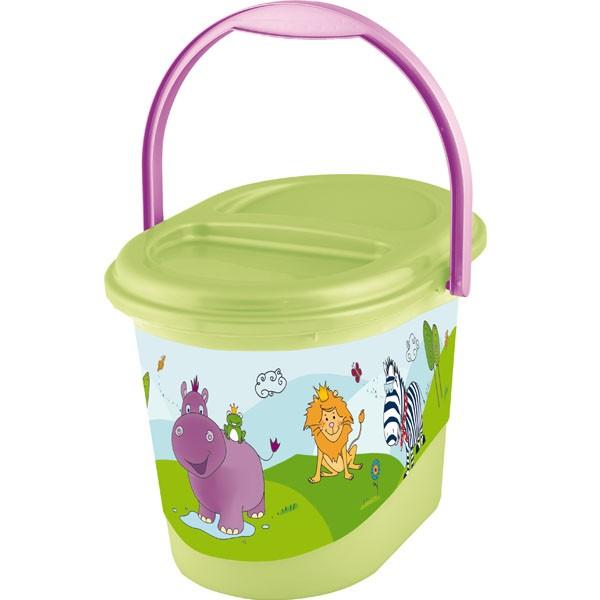 PRIMA BABY - Koš na pleny Hippo - Zelený
