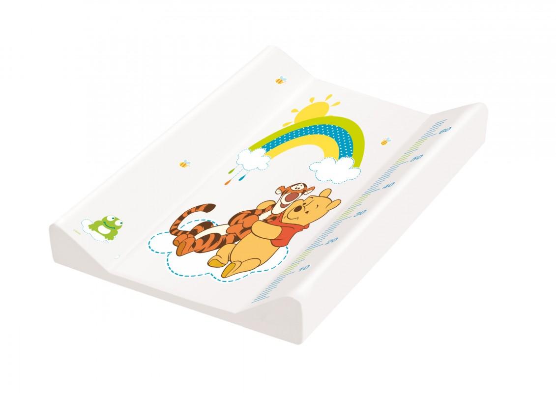 PRIMA BABY - Podložka s pevnou deskou Medvídek Pú - Bílá