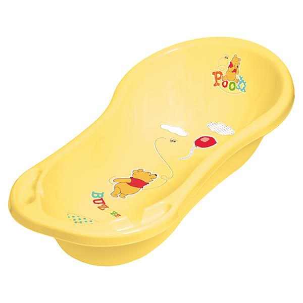 PRIMA BABY - Dětská vanička 100cm se zátkou Winnie Pooh, žlutá