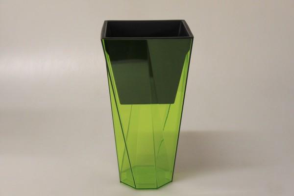 PROSPERPLAST - Květináč Urbi Twist 14 cm - zelený