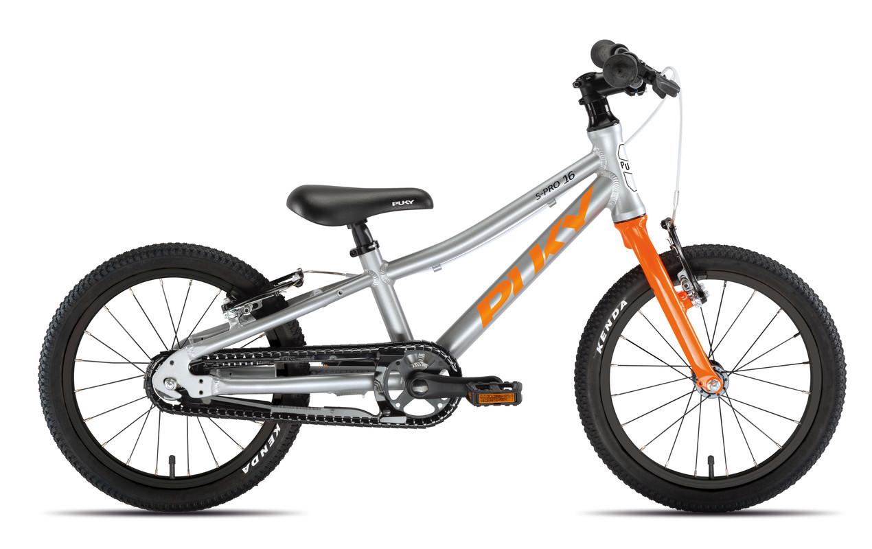 PUKY - Dětské kolo S PRO 16-1 Alu - stříbrná/oranžová