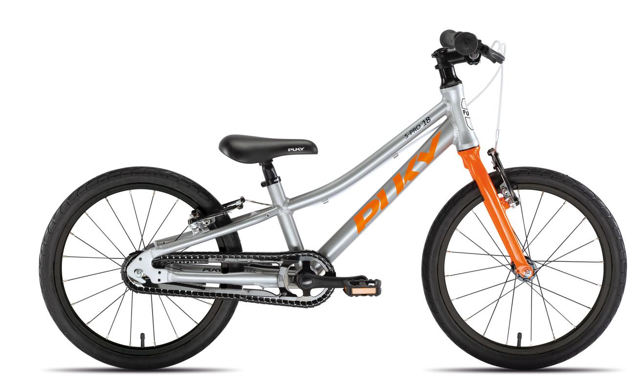 PUKY - Dětské kolo S PRO 18-1 Alu - stříbrná/oranžová