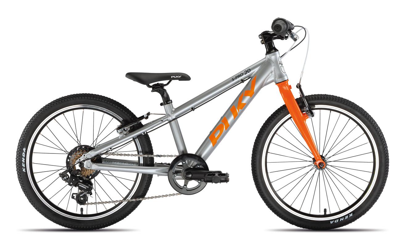 PUKY - Dětské kolo S PRO 20-7 Alu - stříbrná/oranžová