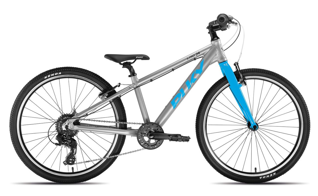 PUKY - Dětské kolo S PRO 24-8 Alu - stříbrná/modrá