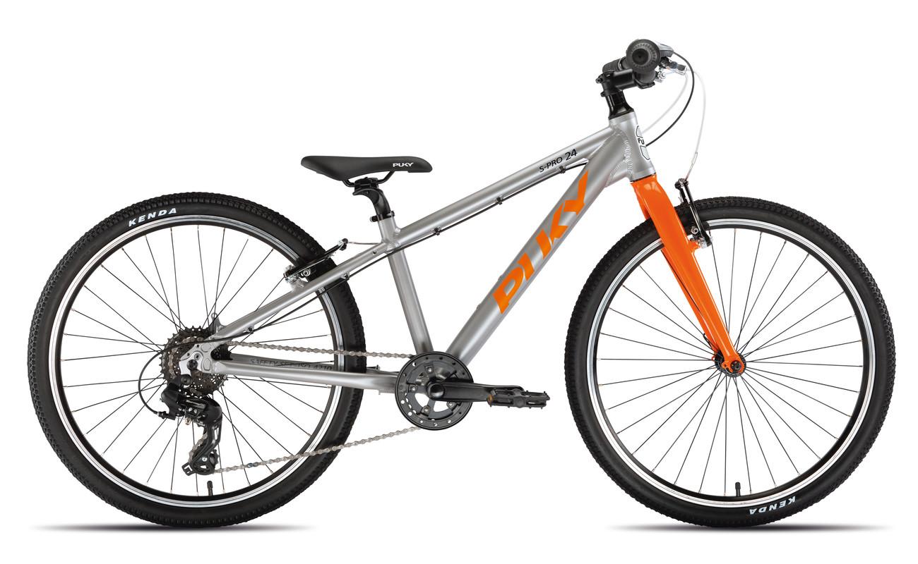 PUKY - Dětské kolo S PRO 24-8 Alu - stříbrná/oranžová