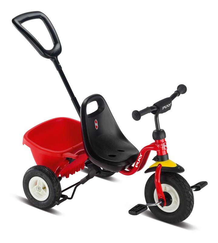 PUKY - Dětská trikolka s tyčí Ceety Air - červená