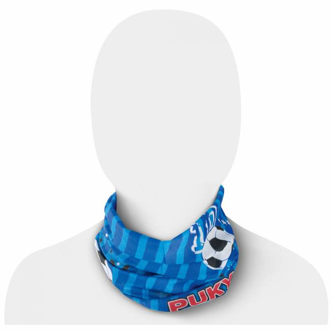 PUKY - multifunkční šátek modrý motiv futbal