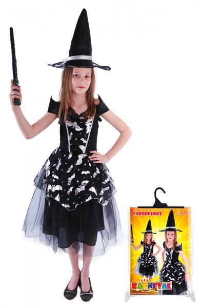 RAPPA - Dětský kostým čarodějnice netopýrka (S), Čarodějnice / Halloween