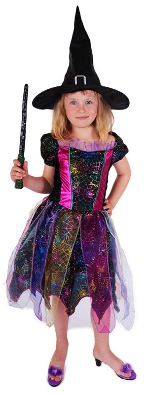 RAPPA - Barevný kostým čarodějnice vel. S