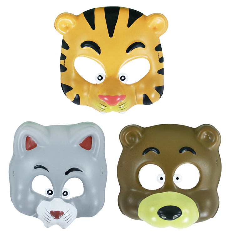 RAPPA - Karnevalová maska plastová veselá zvířátka A