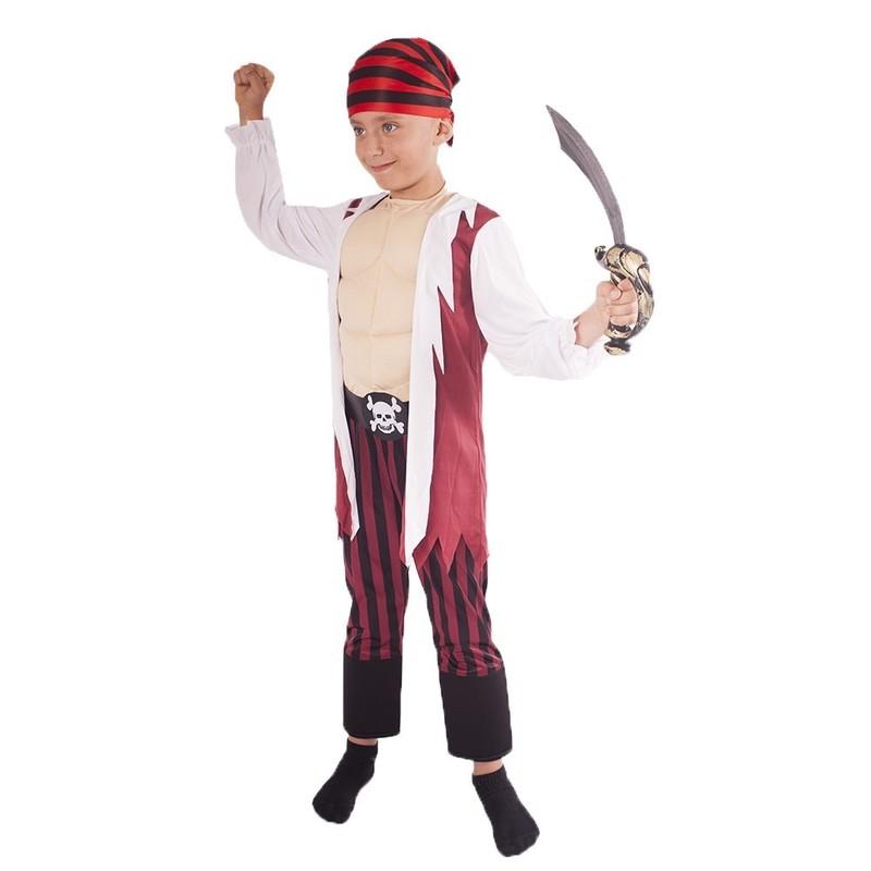 RAPPA - Kostým Pirát s proužkovanou šátkem L