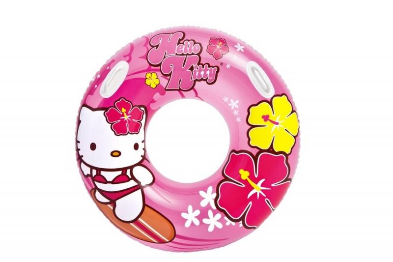 RAPPA - Nafukovací kruh Hello Kitty, 97 cm