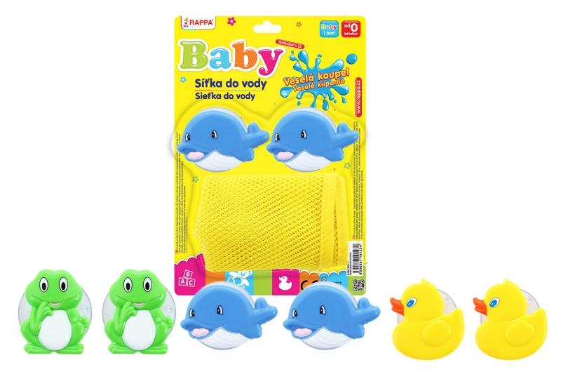 RAPPA - Síťka do vany na hračky, 3 druhy