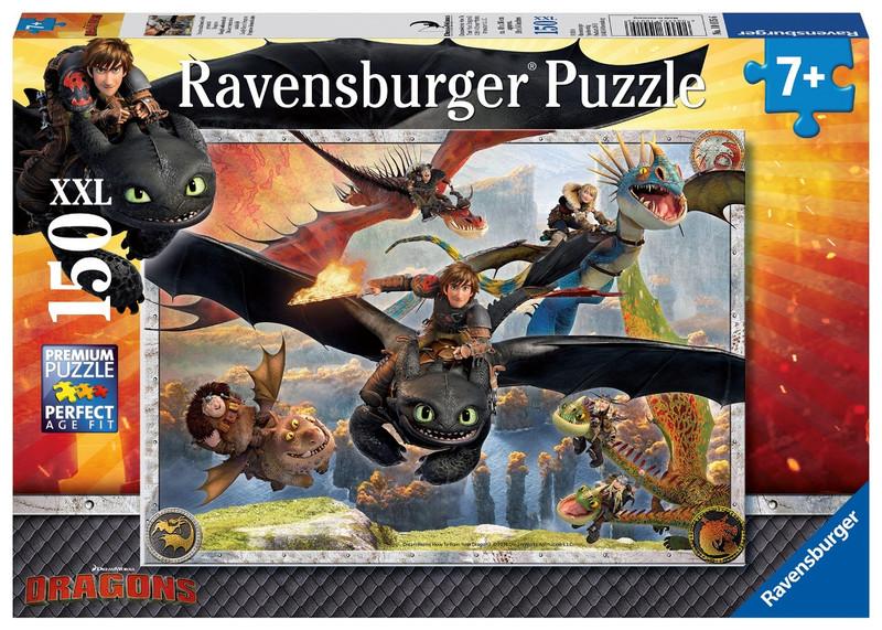 RAVENSBURGER - Jak vycvičit draka: Vycvičení draci 150 dílků