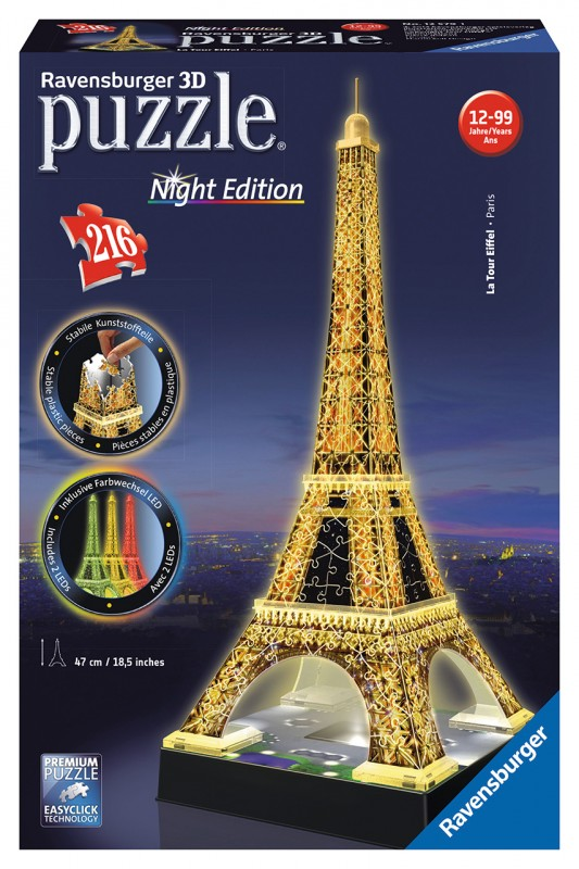 RAVENSBURGER - Eiffelova Věž (Noční Edice) 3D 216D