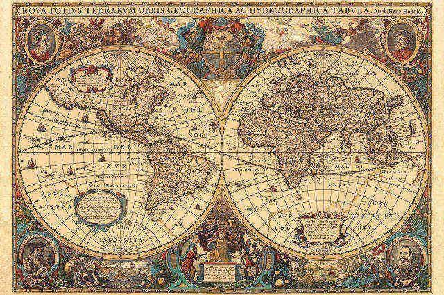 RAVENSBURGER - Puzzle Historická mapa 5000d