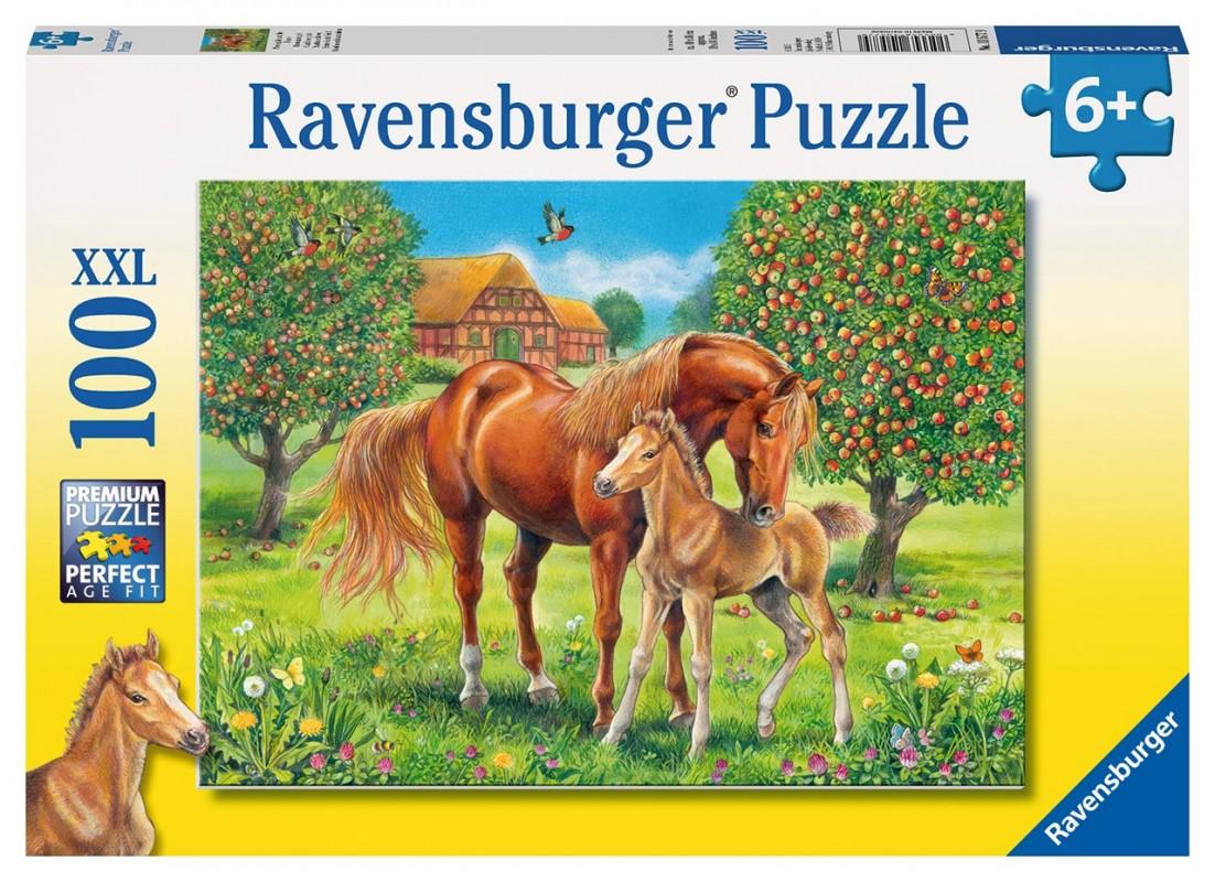 RAVENSBURGER - Koně na pastvině 100 XXL dílků