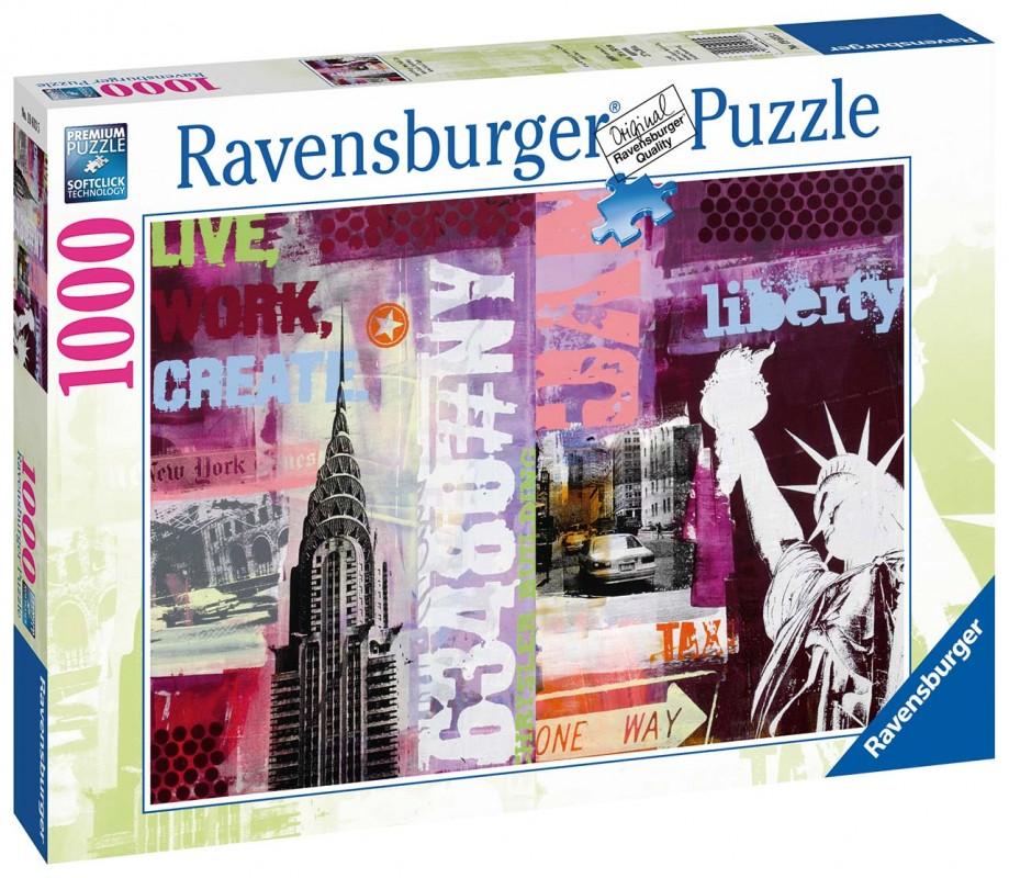 RAVENSBURGER - New York 1000 dílků