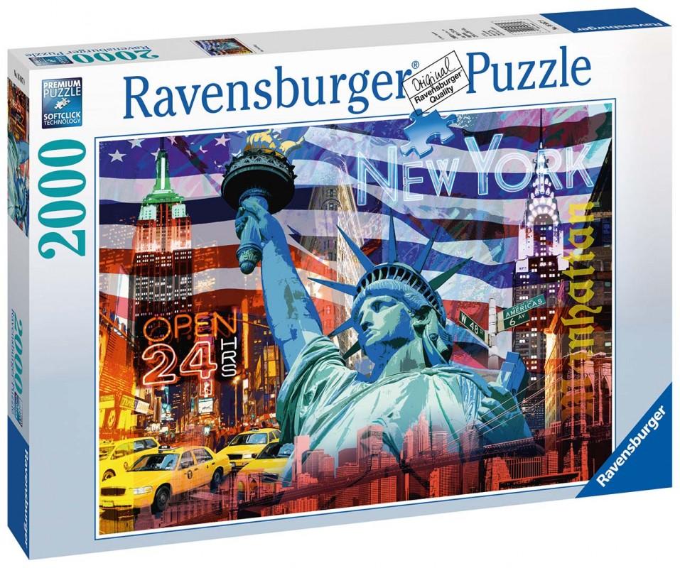 RAVENSBURGER - New York koláž 2000 dílků
