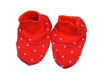 ANTONY FASHION - Bačkůrky bavlněné - Tečka - červené, velikost: UNI