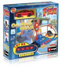 BBURAGO -  Playset Car Wash - Myčka s jedním autíčkem