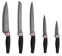 BERGNER - Sada nožov 5 ks, čierne