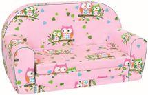 BINO - Mertens 53014 Minipohovka růžová sovičky