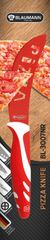BLAUMANN - Nůž na pizzu čepel 11 cm červený, BL-3007NR