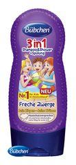 BÜBCHEN - Kids sprchový gel, šampon a ošetřující balzám na vlasy 3v1 Malí Sibal 230 ml