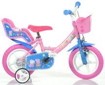 """DINO BIKES - Dětské kolo 12 """"124RLPIG Pepa Pig se sedačkou pro panenku a košíkem"""