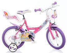 """DINO BIKES - Dětské kolo 16 """"Dino 164RWX Wings se sedačkou pro panenku a košíkem"""