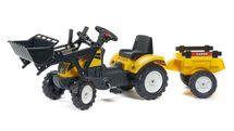 FALK - Šlapací traktor 2055CM Ranch Trac žlutý s nakladačem a vlečkou