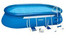 INTEX - bazén Metal Frame ovál 549x305x107 cm s filtračním zařízením 26192
