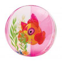 INTEX - nafukovací míč akvárium s rybkou - růžový