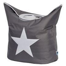 LOVE IT STORE IT - Box na prádlo - šedý, bíla hvězda