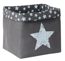 LOVE IT STORE IT - Box na hračky, velky košík - šedý, Vintage Star