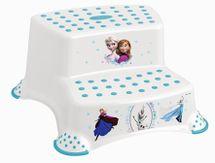 PRIMA BABY - Dvojstupienok k umyvadlu a WC Frozen - Bílá