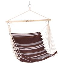 SPOKEY - BENCH hnědé pruhy - Houpačka sedátko pro dva, do 120 kg,  barevný mix