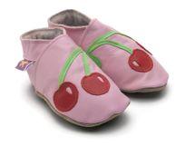 Starchild - Kožené botičky - Cherrybaby Baby Pink - velikost S (0-6 měsíců)