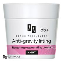 AA - Dermo Technology 55+ Obnovující a regenerační NOČNÍ KRÉM s kolagenem a arganovým olejem 50 ml