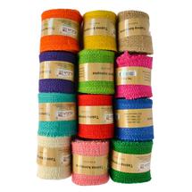 ALIGA - Konopná stuha barevná 2m (balení mix 12 kusů)