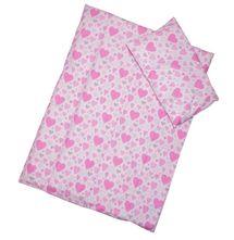 ANTONY FASHION - Povlečení (růžové) - Srdíčka, velikost: 120x90 (přikrývka) + 40x60 (polštář)
