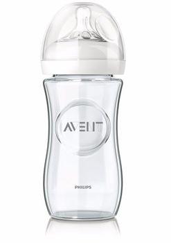 AVENT - Skleněná láhev Natural 240 ml bez BPA