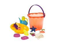 B-TOYSVelká sada hraček na písek v kyblíku 10 ks