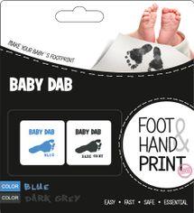 BABY DAB - Barva na dětské otisky 2ks modrá, šedá