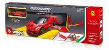 BBURAGO -  Bburago 1:43 Ferrari Race & Play Launch N Jump Set s jedním autíčkem