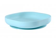 BEABA - Talíř silikonový s přísavkou Blue