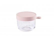 BEABA - Kelímek na jídlo skleněný 150ml růžový